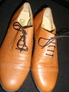 brogue 7 Scarpe pelle Uk marrone taglia Windsor Samuel in chiaro Scarpe awqUZtB