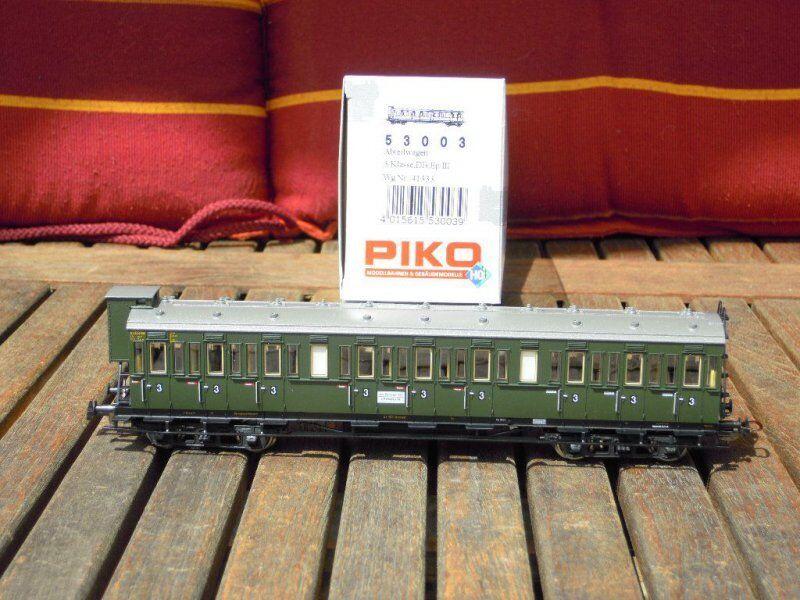 PIKO 53003 Vagón de Compartimentos c 3.kl. CON GARITA guardafrenos DB Ep 3.