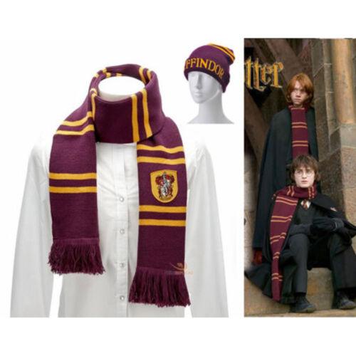Harry Potter Schal Mütze Handschuh Set Gryffindor//Slytherin//Hufflepuff//Ravenclaw