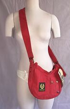 Authentic Belstaff Banana Bag Brand New Cross Body Belflex Red Purse NWT