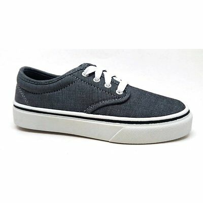 Faded Glory Youth Boys/' Gray Canvas Casual Lace-up Athletic Sneakers//Shoes 2-5