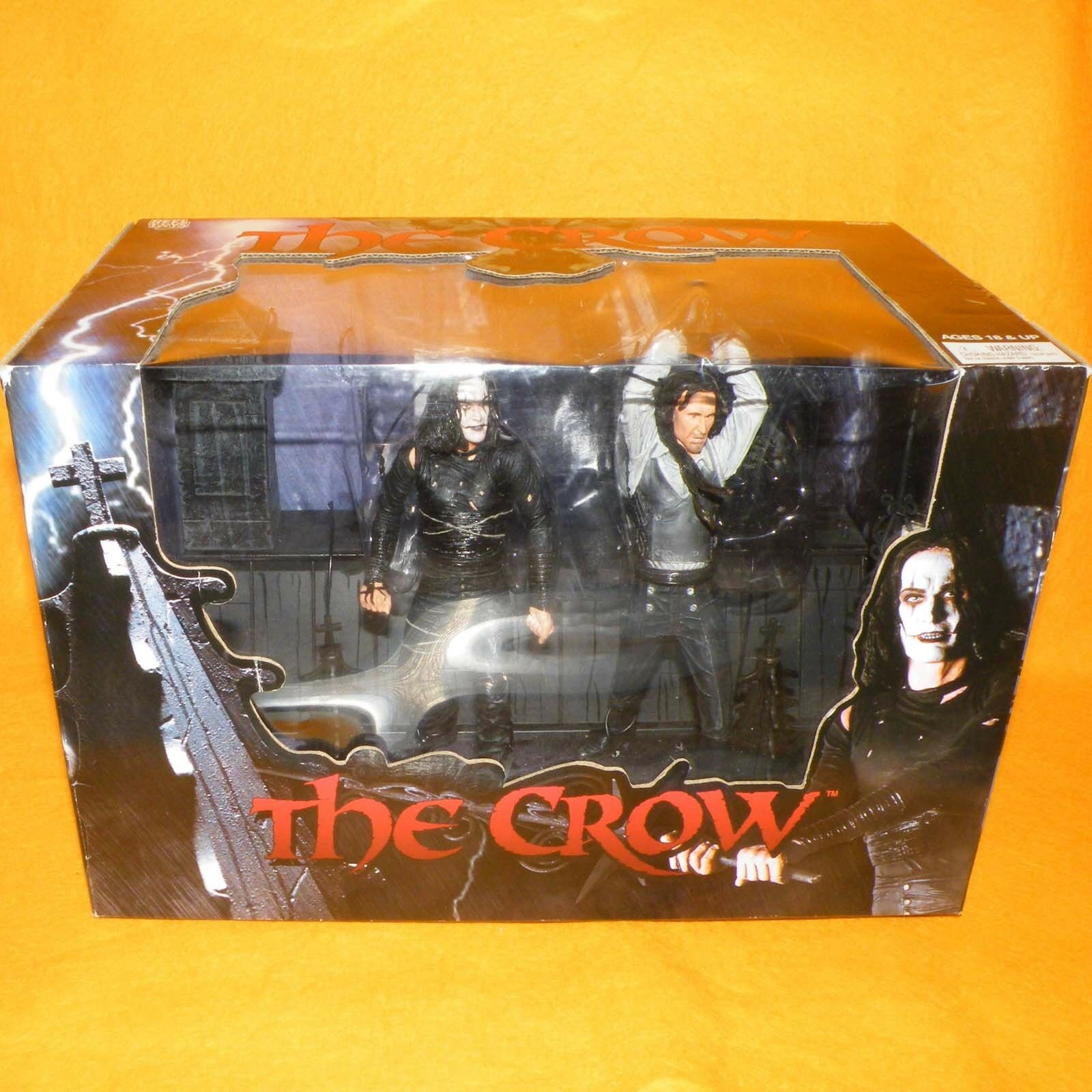 2005 NECA reelJuguetes el Cuervo Eric Draven Vs Top Dollar Figura en caja Set SEALED