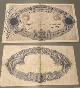 500 Francs Bleu Et Rose Type 1888 – 4/2/1927 O.974 Tb + Fkhag3ai-08000405-211631362