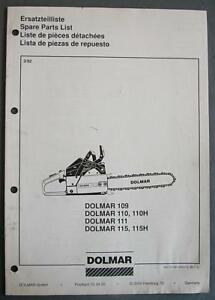 1992-Dolmar-Chainsaw-Illustrated-Parts-Manual-Models-109-110-110H-111-115-115H