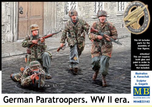MASTER BOX™ 35145 WWII German Paratroopers Figuren in 1:35