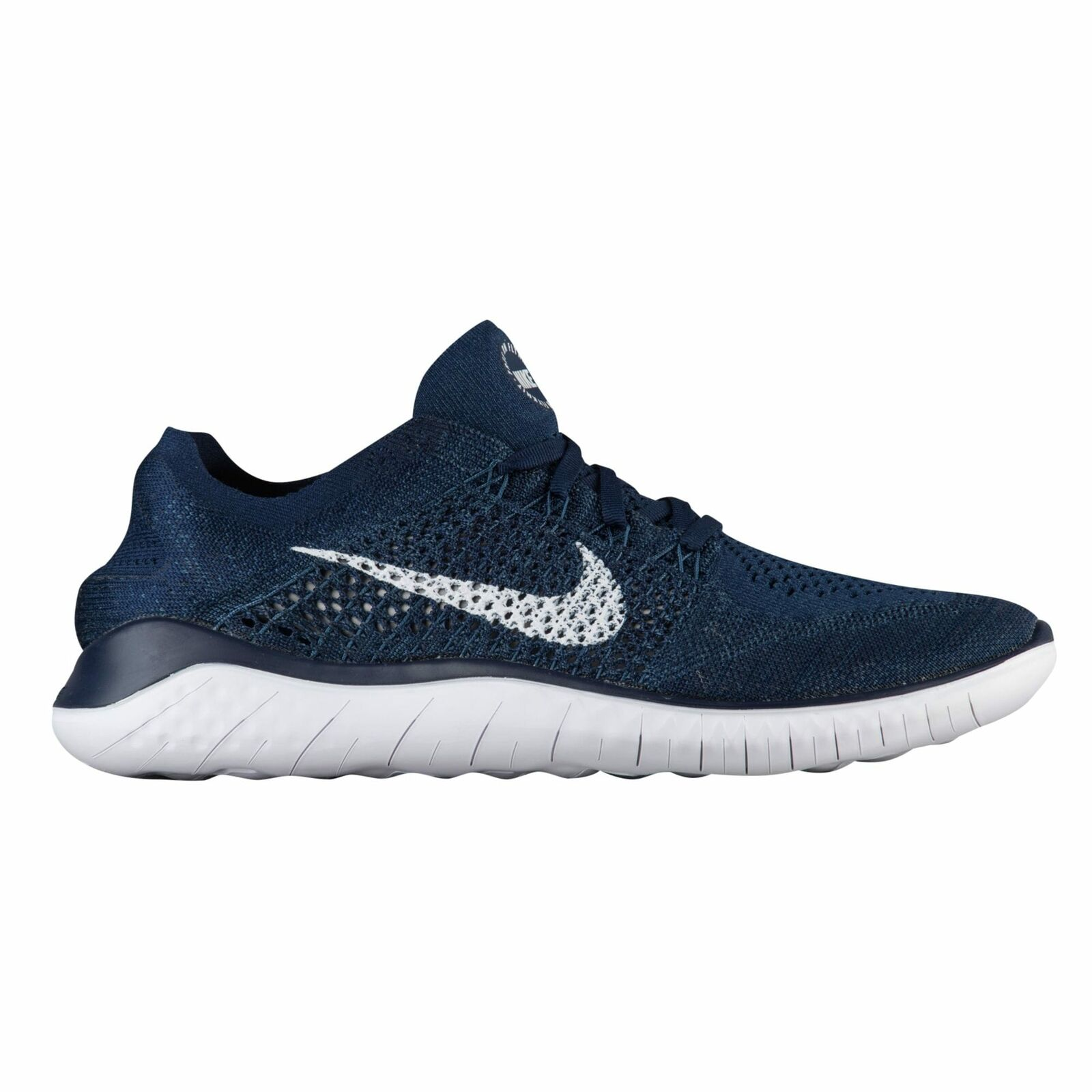 Nike Free RN Flyknit 2018 Men's College Navy White Squadron bluee 2838400