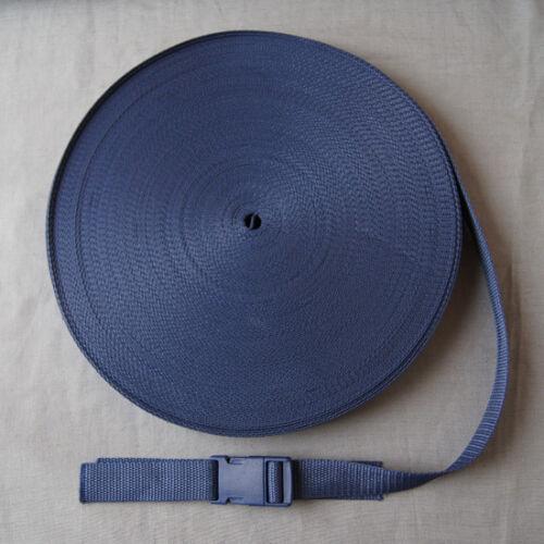 5 m METERWARE Cinturón Banda Cinturón bolsos ancho 25 mm azul oscuro 1,4mm Dick