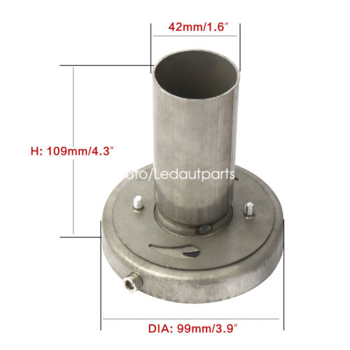 Removable 4/'/' Exhaust Muffler Silencer Tip Adjustable 201 Stainless Steel