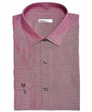 $95 Bar Iii 15-15.5 32//33 Mens Slim-Fit Stretch Black White Pink Top Dress Shirt