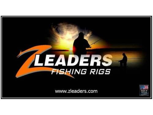 FLUOROCARBON SPINNER TIP UP LEADER Z LEADERS #202 TREBLE HOOK RIG 6