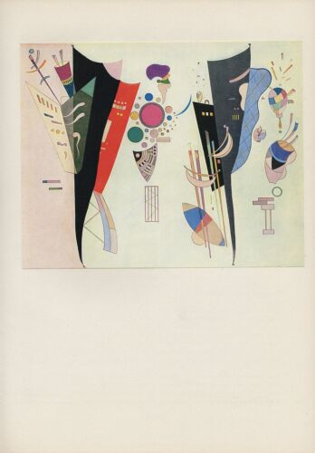 "1958 Vintage KANDINSKY /""RECIPROCAL ACCORD/"" ABSTRACT COLOR Art Print Lithograph"
