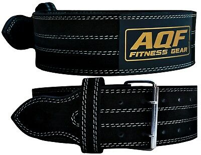 Qualifiziert Aqf Weight Lifting Nubuck Leather Power Belt Back Support Strap Gym Training Dip