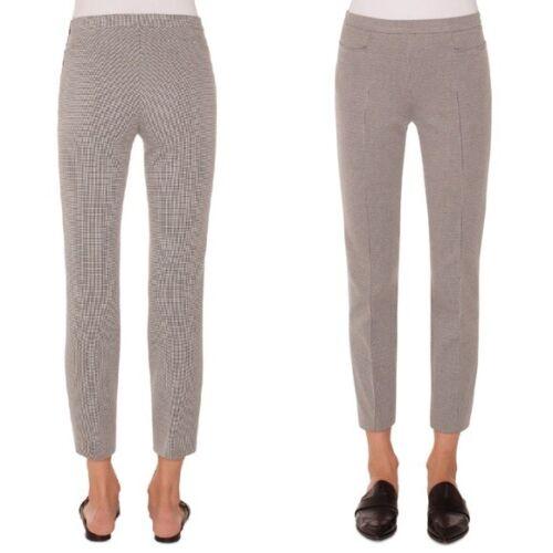 Akris Punto Franca Mini Gingham Grey Ankle Pants S