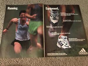 Vintage 1991 Adidas Equipment Poster Print Ad Running Shoes 1990s Rare Ebay