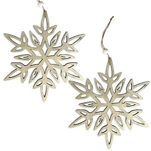 Details About Pack Of 2 Large Natural Wooden Snowflake Hanging Christmas Decorations 28cm