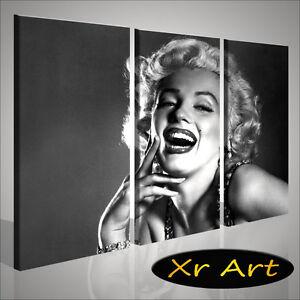 Opera d\'Arte moderna Trittico celebrità di Hollywood. Quadri Pop Art ...