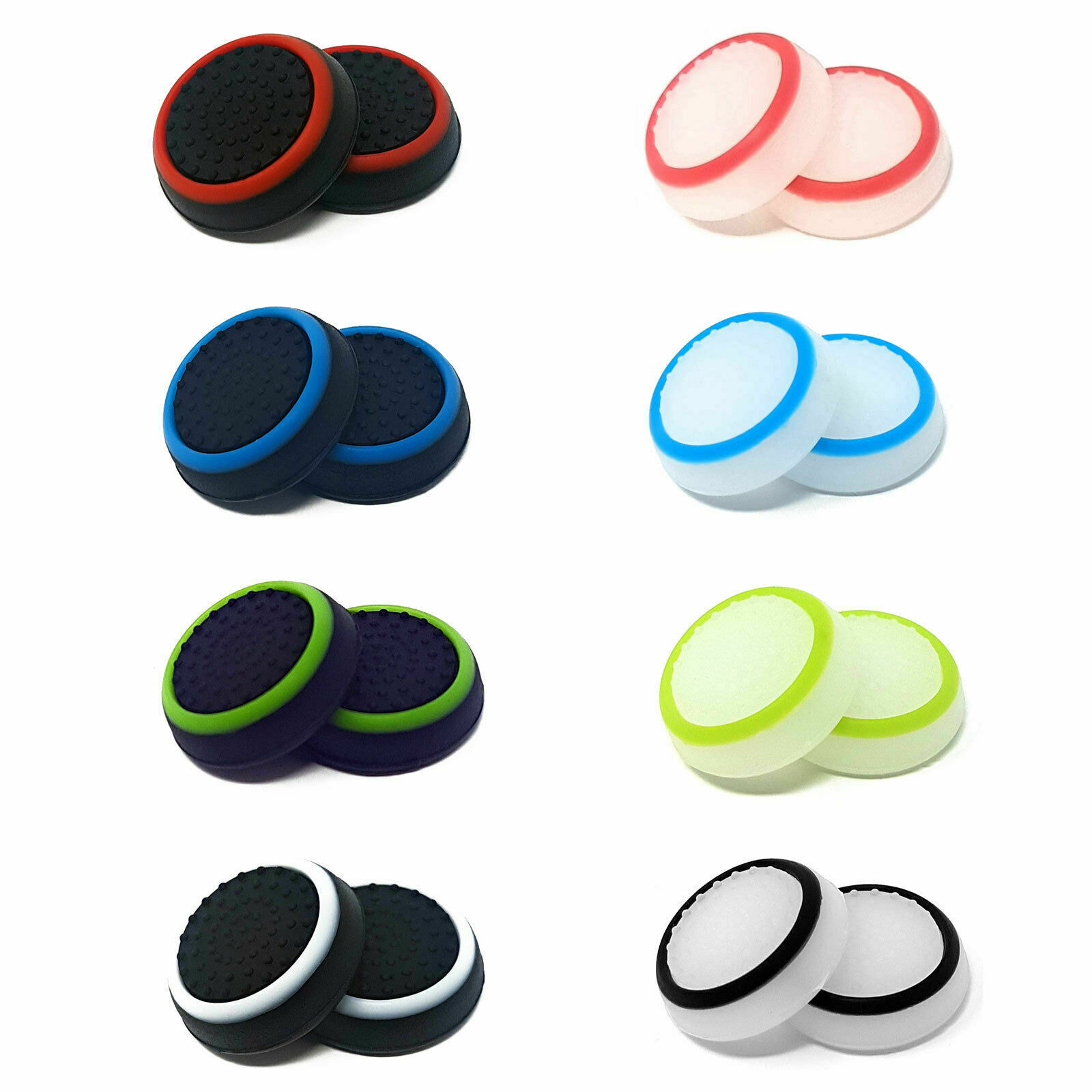 1 x Pair Of Rubber Controller Thumb Grips PS4 PS5 Cover Pads Analog Xbox One UK