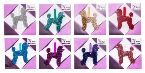 10 colour choices. Pet Trim Poodle Glitter Christmas Decoration