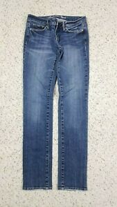 American-Eagle-Women-039-s-Skinny-Stretch-Distressed-Wash-Blue-Jeans-Size-2-Regular
