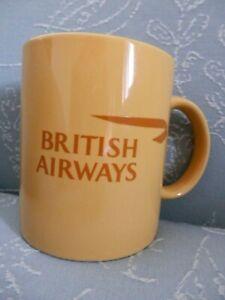 British-Airways-Mug-Yellow-Mustard-EUC
