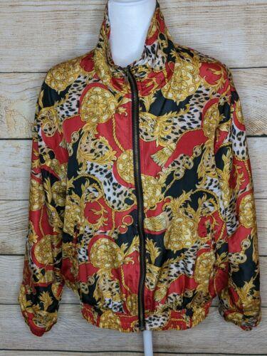Vintage EVR Red Gold Baroque Silk Full Zip Track B
