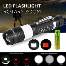 8000 Lumen CREE XML T6 LED USB Rechargeable Flashlight Torch Zoom Lamp 18650 USA