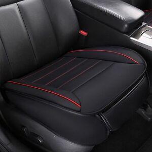 Universal-Auto-PU-Leder-3D-Sitzauflage-Sitzbezuege-Kissen-Sitzmatte-Cover-Schwarz