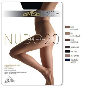 2 Collant donna Omsa 70 denari in microfibra coprente tutto nudo art Velour 70