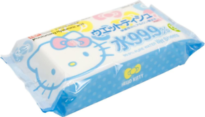 JAPAN Hello Kitty 99.9/% Water Wet Sheets Moisturising Hyaluronic Acid 80 Wipes