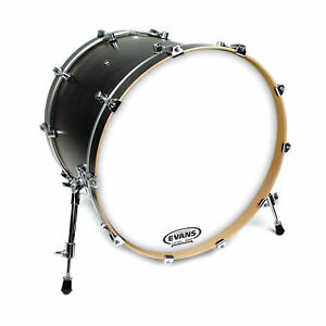 Evans-EQ3-Resonant-Coated-White-Bass-Drum-Head-No-Port-22-Inch