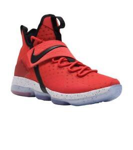 reputable site 671c4 70bde La imagen se está cargando Nike-Hombre-Lebron-XIV-Rojo-Zapatillas-Baloncesto -852405-
