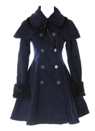 Damen Jl blau Dunkel 900 Kostüm Mantel Klassisch Victorian Lolita Gothic Cape qqw7tUp