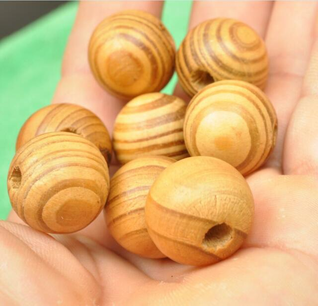 Wholesale wood log loose charm beads for bracelets chain accessories interval