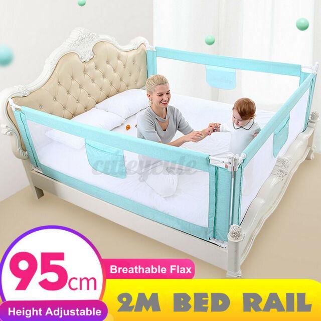 2M Baby Toddler Safety Bed Rail Adjustable Kid Cot Side ...