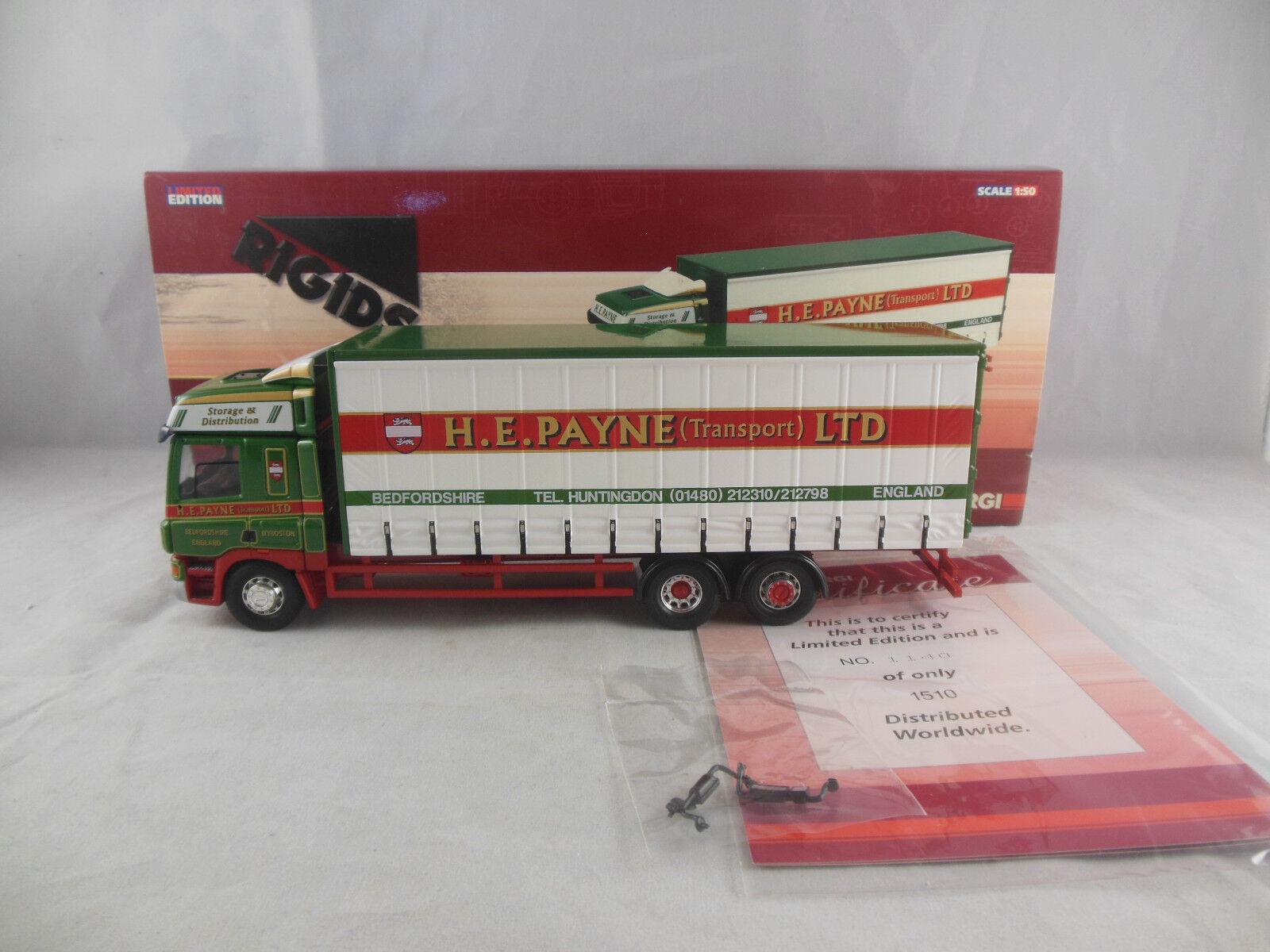 CORGI CC13618 DAF CF Curtainside camion H.E. Payne Transport Ltd échelle 1 50
