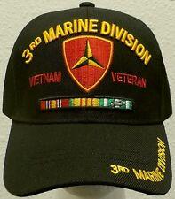 3rd DIVISION DIV U.S. MARINE CORPS USMC VIET NAM VIETNAM VETERAN VET CAP HAT OS