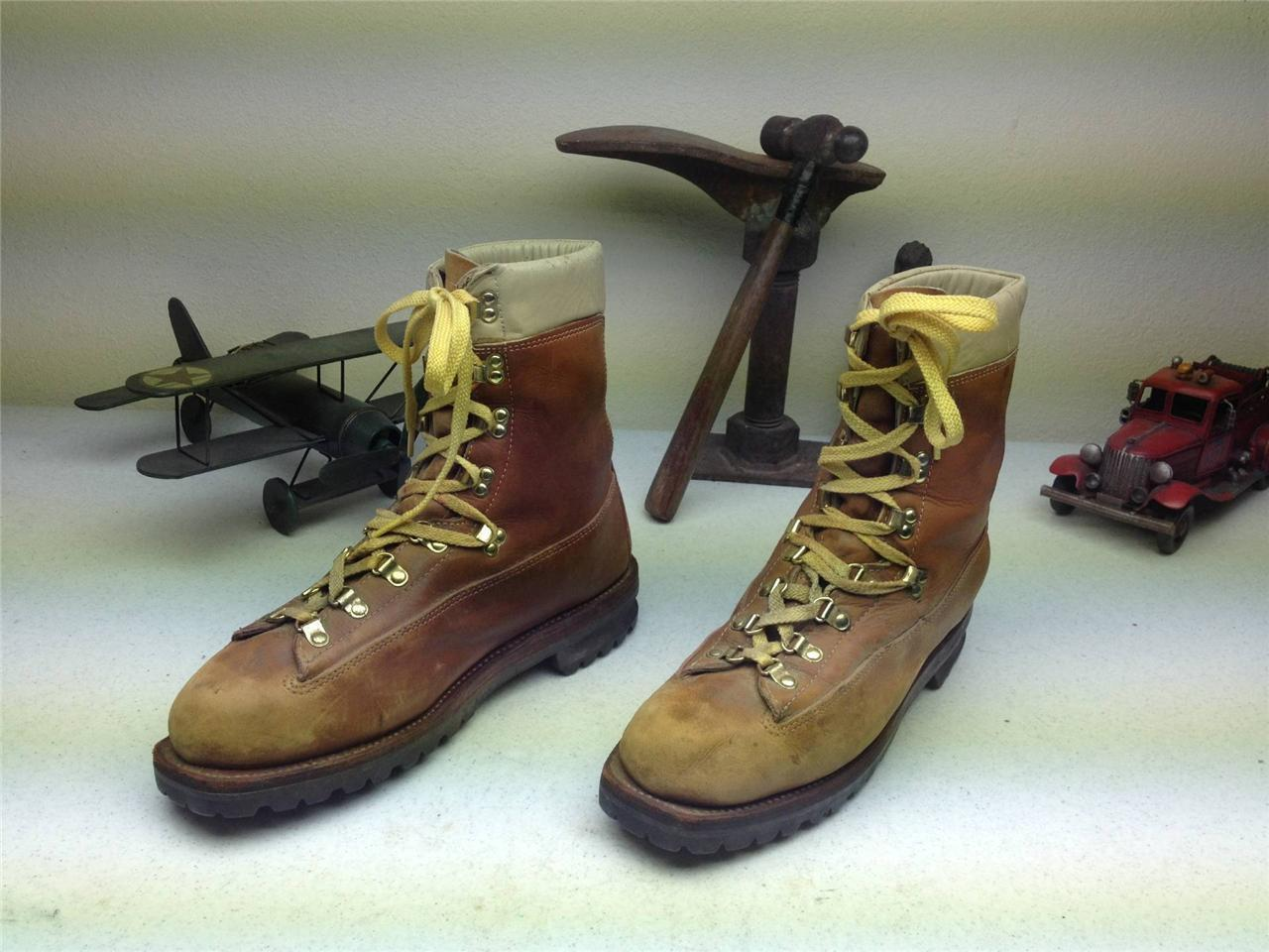DISTRESSED BROWN HIKING MONTBLANC LACE UP MOUNTAIN HIKING BROWN TRAIL BOSS Stiefel SIZE 10.5 D d11b43