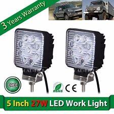 2x 27W 5'' Cree LED Flood Work Light lamp truck SUV OFF-Road ATV Boat UTE VS 48W