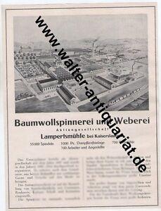 Spinnerei-Weberei-Lampertsmuehle-bei-Kaiserslautern-Grosse-Reklame-anno-1926
