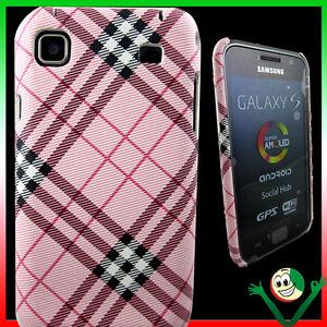 Custodia-back-cover-PLAID-RE-per-Samsung-Galaxy-S-i9000-i9001-Plus-rosa-sottile