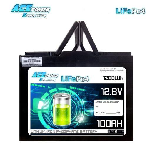 12V 100Ah LiFePO4 Lithium Akku mit Integriertem LCD-Kapazitäts Display