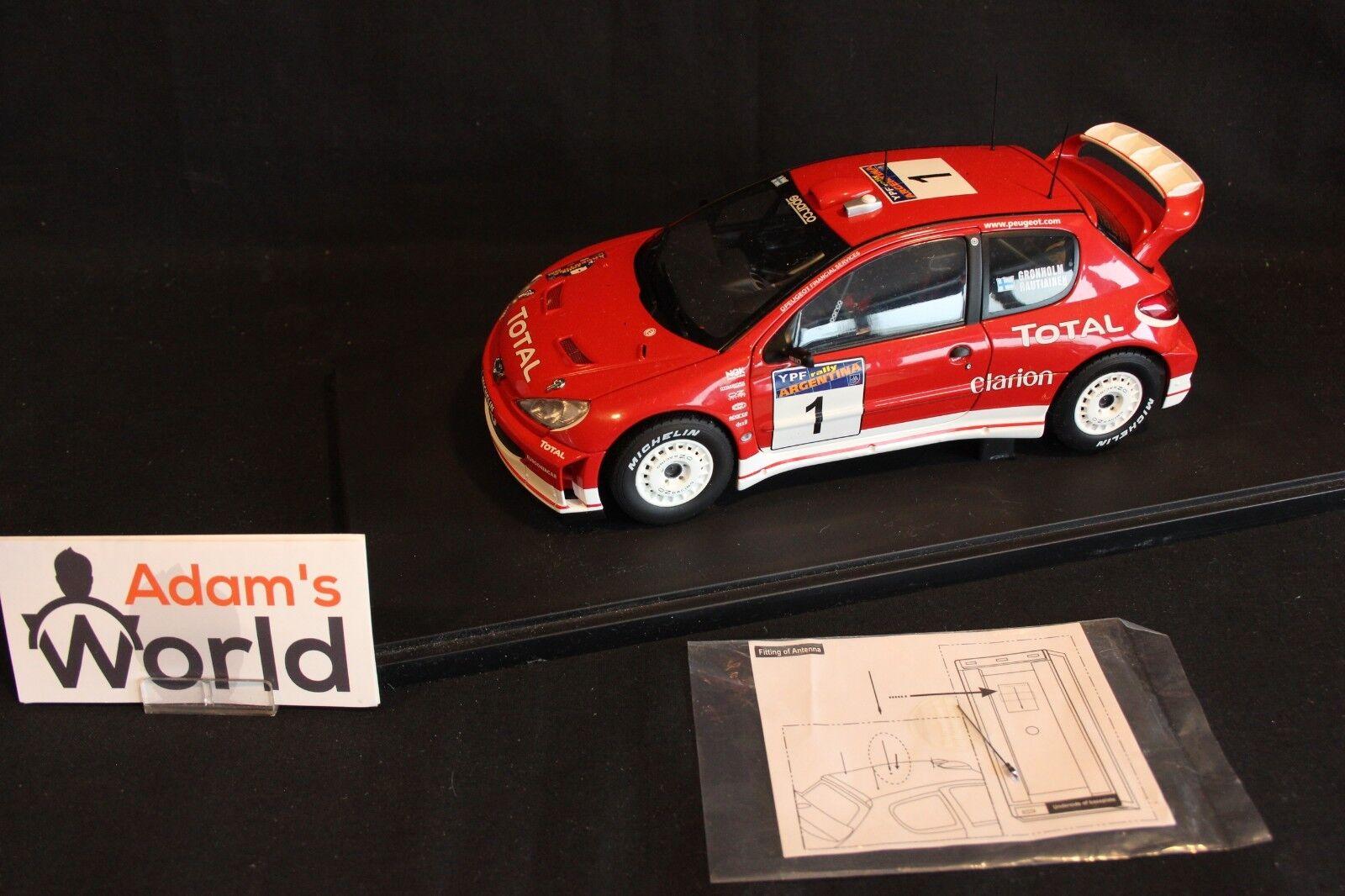 AutoArt Peugeot 206 WRC 2003 1 18  2 Burns   Reid Rallye MC (AK)