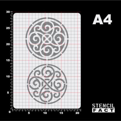 A4 Schablone Celtic Medaillon 2 Ornamente BS476