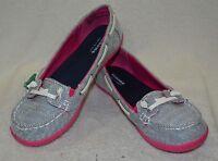 Sonoma Life + Style Girls Ashlyn White/ Stripe Sequins Boat Shoes - Asst Sizes