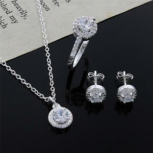 fashion-women-lady-wedding-925-silver-crystal-necklace-earring-ring-jewelry-set