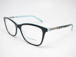 79d3006451d Details about New Authentic Tiffany   Co TF 2116-B 8193 Black   Striped  Blue Eyeglasses 53mm