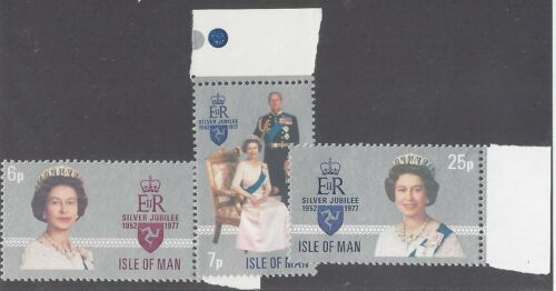 Isle of Man, 1977 Silver Jubilee, NH Mint Set of Stamps, SG 94-6