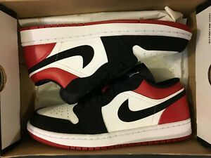 fa4db4234fa9 NEW AIR JORDAN 1 RETRO LOW BLACK TOE GYM RED SHOES 553558-116 MEN ...