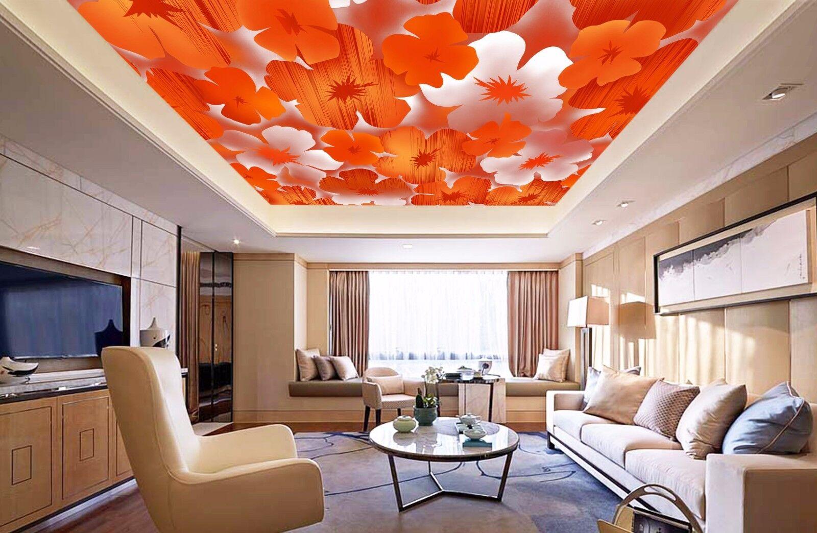 3D Red Petals 754 Ceiling WallPaper Murals Wall Print Decal Deco AJ WALLPAPER