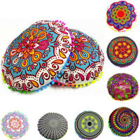 Indian Mandala Floor Pillow Case Throw Round Bohemian Pouf Cushion Cover Sham UK